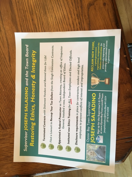 The political mailers from the Town of Oyster Bay